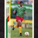 1994 Upper Deck World Cup Contenders English/Spanish Soccer #224 Francois Omam-Biyik - Cameroon