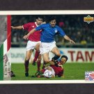1994 Upper Deck World Cup Contenders English/Spanish Soccer #159 Gianluigi Lentini - Italy
