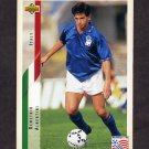1994 Upper Deck World Cup Contenders English/Spanish Soccer #151 Demetrio Albertini - Italy