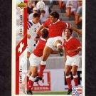 1994 Upper Deck World Cup Contenders English/Spanish Soccer #136 Andre Egli - Switzerland