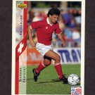 1994 Upper Deck World Cup Contenders English/Spanish Soccer #127 Stephane Chapulsat - Switzerland