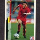 1994 Upper Deck World Cup Contenders English/Spanish Soccer #111 Lorenzo Staelens - Belgium