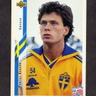 1994 Upper Deck World Cup Contenders English/Spanish Soccer #099 Pontus Kamark - Sweden