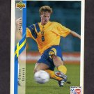 1994 Upper Deck World Cup Contenders English/Spanish Soccer #091 Stefan Schwarz - Sweden