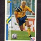 1994 Upper Deck World Cup Contenders English/Spanish Soccer #089 Klas Ingasson - Sweden