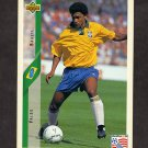 1994 Upper Deck World Cup Contenders English/Spanish Soccer #081 Valdo - Brazil