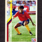 1994 Upper Deck World Cup Contenders English/Spanish Soccer #060 John Trellez - Colombia