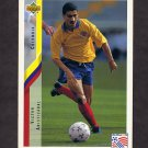 1994 Upper Deck World Cup Contenders English/Spanish Soccer #053 Victor Aristizabal - Colombia