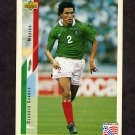 1994 Upper Deck World Cup Contenders English/Spanish Soccer #031 Claudio Suarez - Mexico