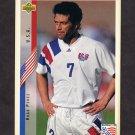 1994 Upper Deck World Cup Contenders English/Spanish Soccer #010 Hugo Perez - U.S.A.