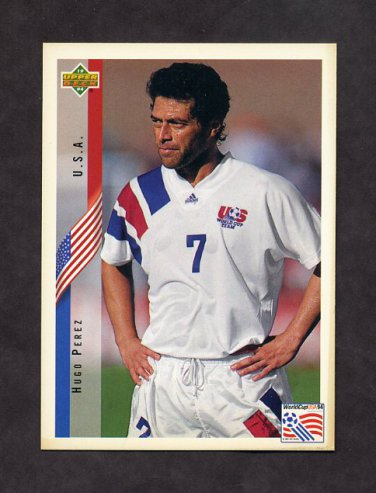 1994 Upper Deck World Cup Contenders English/Spanish Soccer #010 Hugo Perez - U.S.A.