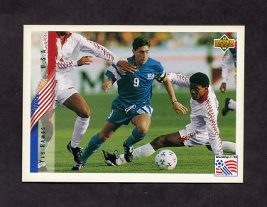 1994 Upper Deck World Cup Contenders English/Spanish Soccer #009 Tab Ramos - U.S.A.