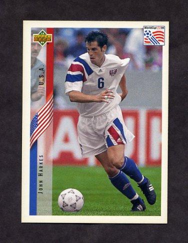 1994 Upper Deck World Cup Contenders English/Spanish Soccer #008 John Harkes - U.S.A.