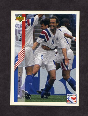1994 Upper Deck World Cup Contenders English/Spanish Soccer #007 Thomas Dooley - U.S.A.