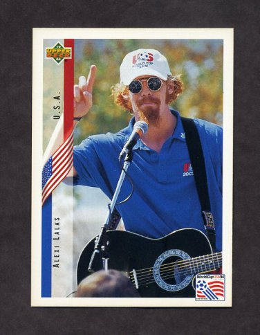 1994 Upper Deck World Cup Contenders English/Spanish Soccer #006 Alexi Lalas - U.S.A.