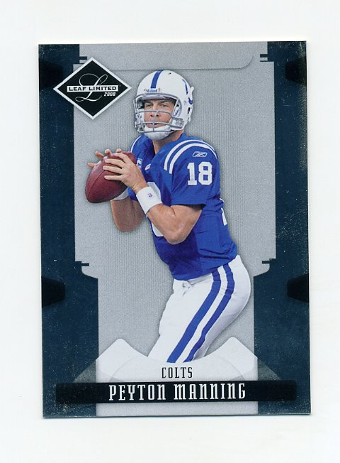 2008 Leaf Limited Football #043 Peyton Manning - Indianapolis Colts