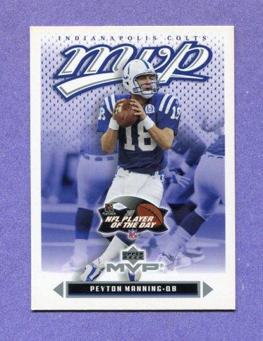 2003 Upper Deck MVP Football #089 Peyton Manning - Indianapolis Colts