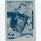 2014 Topps Mini Baseball Mini Printing Plates Cyan #336 Ben Zobrist - Tampa Bay Rays Serial # 1/1