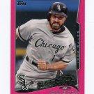 2014 Topps Mini Pink Baseball #555 Adam Eaton - Chicago White Sox Serial #23/25