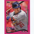 2014 Topps Mini Pink Baseball #481 Allen Craig - St. Louis Cardinals Serial #25/25