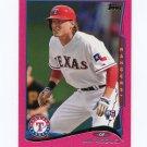 2014 Topps Mini Pink Baseball #052 Jim Adduci - Texas Rangers Serial #09/25
