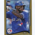 2014 Topps Mini Gold Baseball #356 Jose Reyes - Toronto Blue Jays Serial #17/63