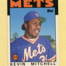 1986 Topps Traded Baseball #074T Kevin Mitchell XRC - New York Mets