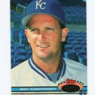 1991 Stadium Club Baseball #038 Bret Saberhagen - Kansas City Royals