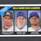 2015 Topps Heritage Baseball #217 Lucas Duda / Anthony Rizzo / Giancarlo Stanton