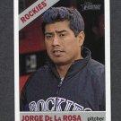 2015 Topps Heritage Baseball #205 Jorge De La Rosa - Colorado Rockies
