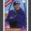 2015 Topps Heritage Baseball #147 Lloyd McClendon MG - Seattle Mariners