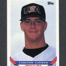 1993 Topps Traded Baseball #004T Carlton Loewer RC - Team USA