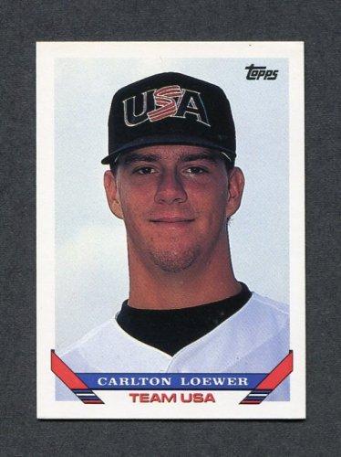 1993 Topps Traded Baseball #004T Carlton Loewer RC - Team USA