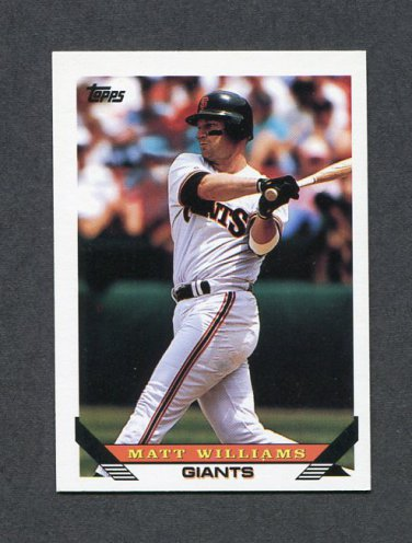 1993 Topps Baseball #225 Matt Williams - San Francisco Giants