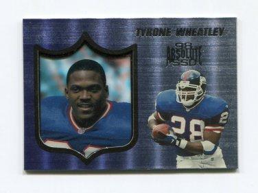 1998 Absolute Hobby Football #083 Tyrone Wheatley - New York Giants