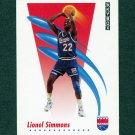 1991-92 SkyBox Basketball #250 Lionel Simmons - Sacramento Kings