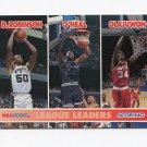 1994-95 Hoops Basketball #257 David Robinson / Shaquille O'Neal / Hakeem Olajuwon LL