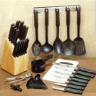 41 Piece Complete Utensil Set Includes Knife Set