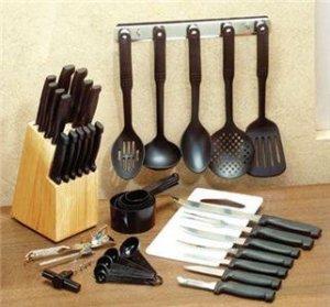 41 Piece Complete Utensil Set Includes Knife Set