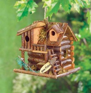 Gone Fishin� Birdhouse Wood