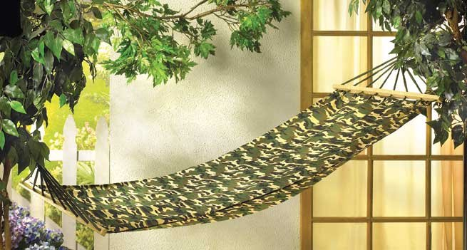 CAMOUFLAGE MILITARY HAMMOCK HOLDS UP TO 250LBS hammocks