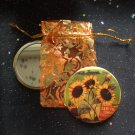 Sunflower Vintage Flower Illustration Pocket Mirror