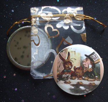 Mad Tea Party from Alice's Adventures in Wonderland Pocket Mirror