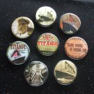 "Titanic 1.25"" Magnets Set of 8"