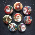 "Vintage Santa Claus 1.25"" Magnets Set of 8"
