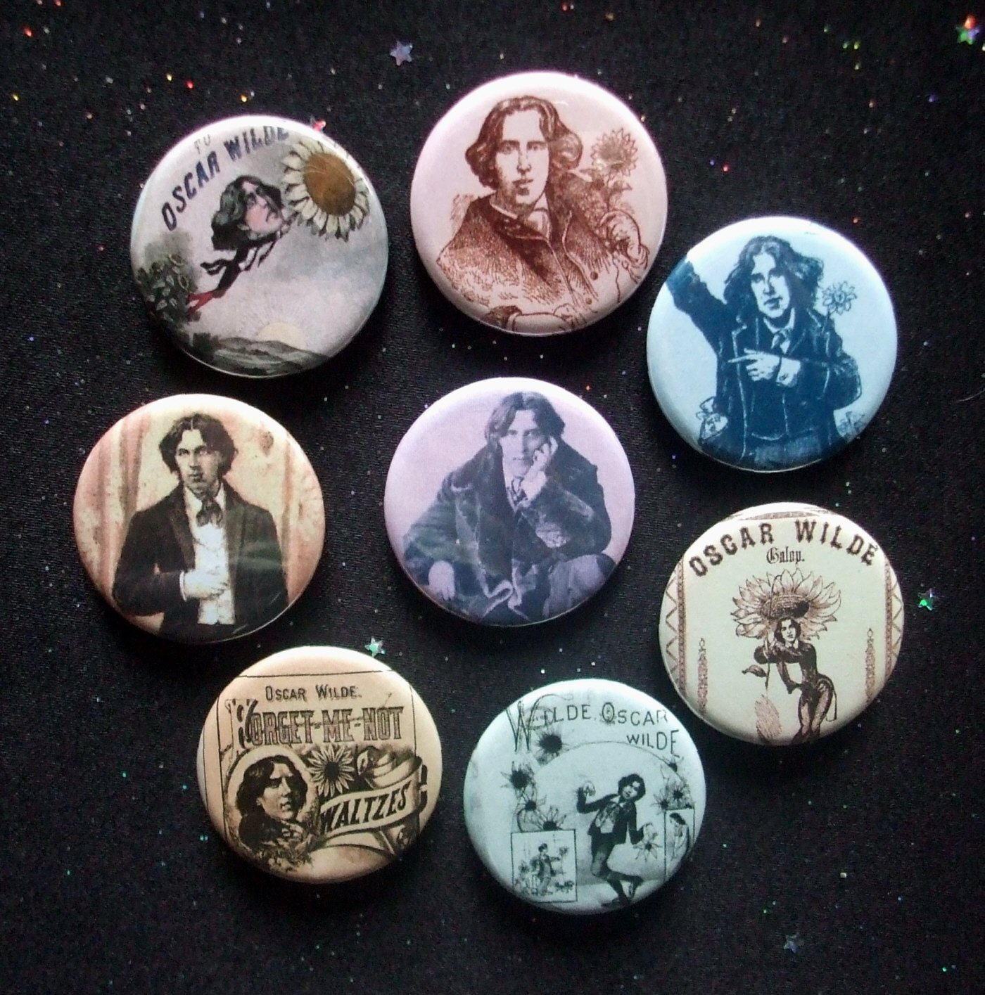 "Oscar Wilde Circa 1882 American Tour 1.25"" Magnets Set of 8"