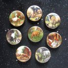 "Farm Animals 1.25"" Magnets Set of 8"