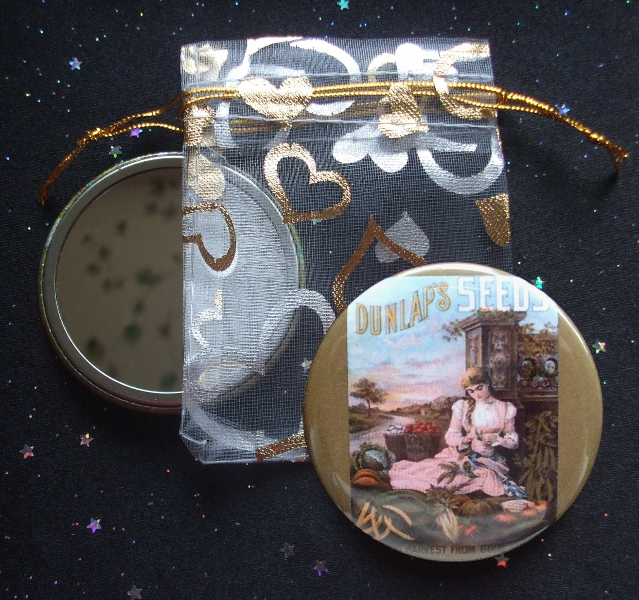 Dunlap's Vintage Seed Catalog Illustration Pocket Mirror