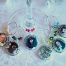 Famous Pirates Wine & Drink Glass Charms Set of 6
