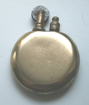 Antique Round Flat Brass Cigarette Lighter